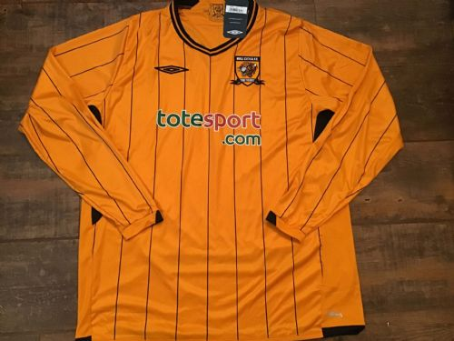2009 2010 Hull City BNWT Home L/s Football Shirt XL